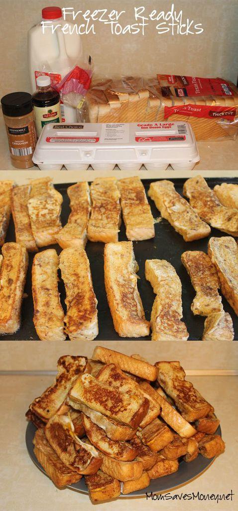 Freezer Ready French Toast Sticks