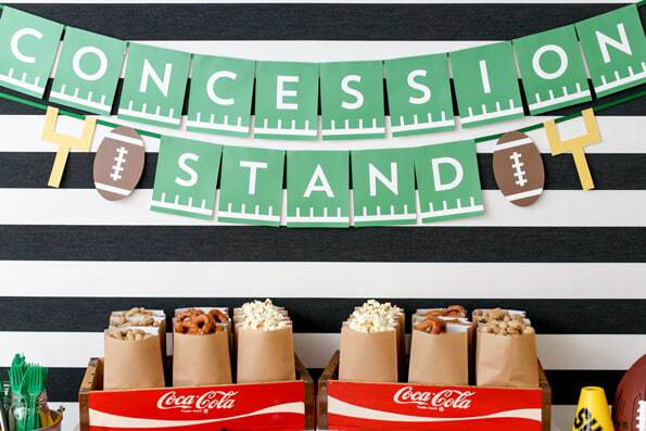 Super Bowl Concession Stand Printable