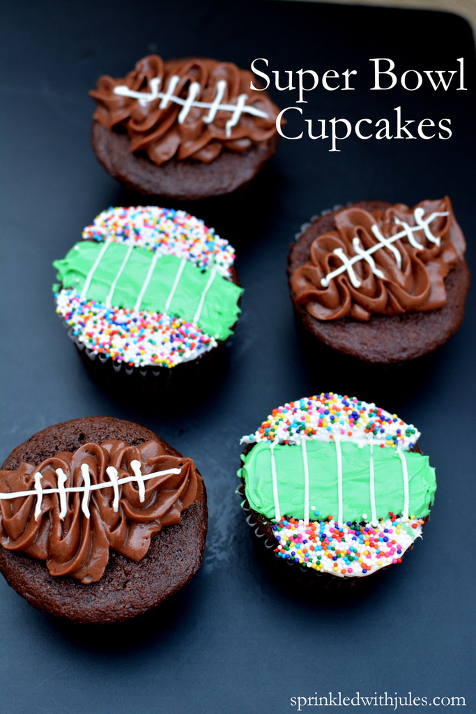 Super Bowl Chocolate Cupcakes