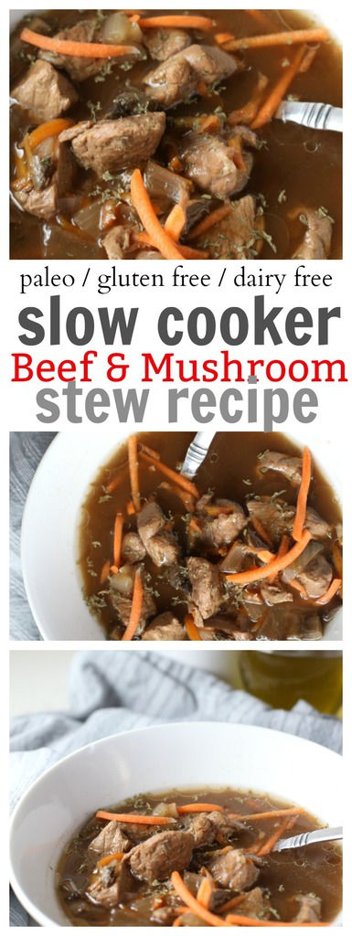 Beef and Mushroom Slow Cooker Stew