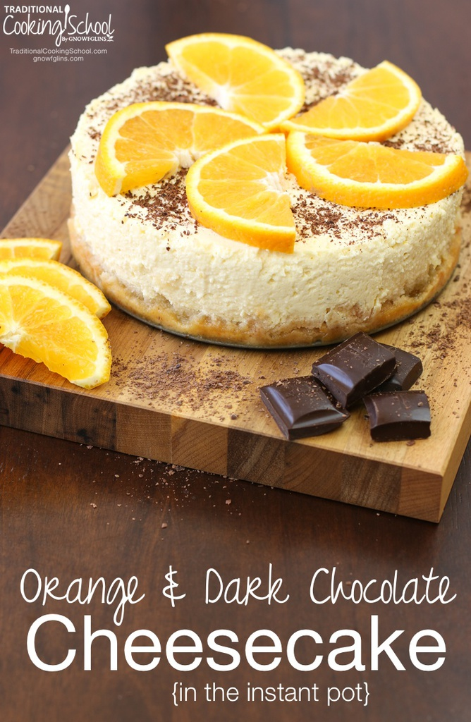 Orange and Dark Chocolate Cheesecake from Traditional Cooking School