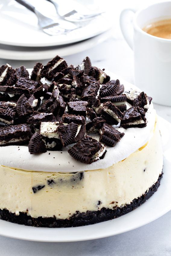 Instant Pot Oreo Cheesecake from My Baking Addiction