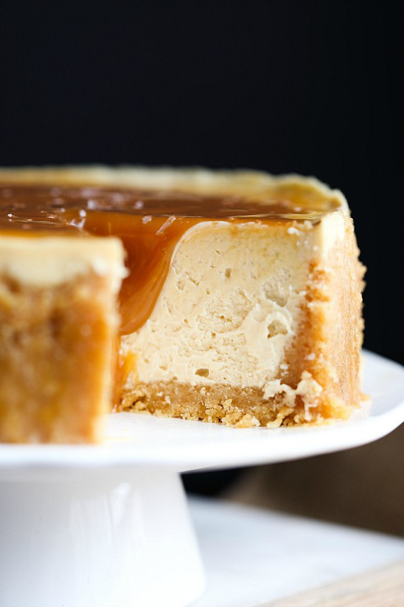 Instant Pot Salted Caramel Cheesecake from Cookies and Cups