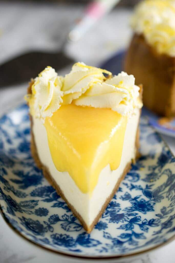 Instant Pot Lemon & Ginger Cheesecake from The Best Blog Recipes