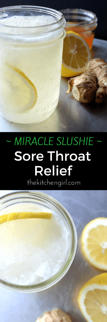 Miracle Slushie - sore throat relief