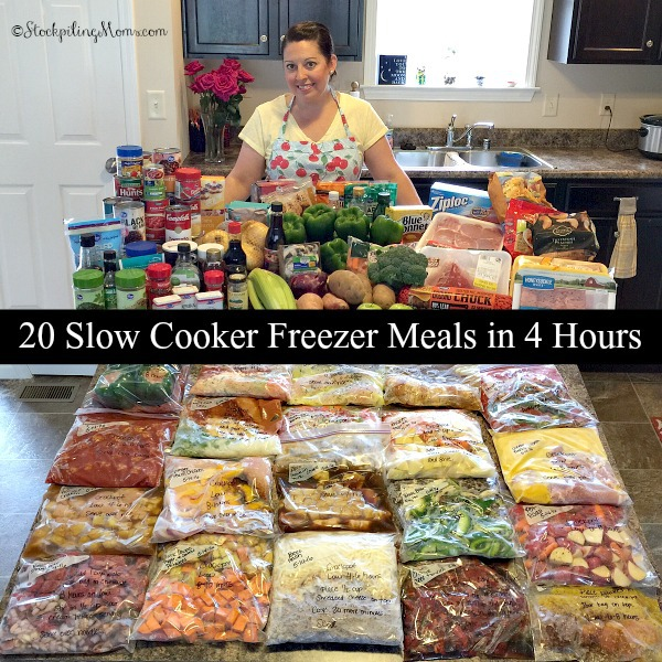 4 HOURS TO GIVES YOUR FAMILY A NEW AND EXCITING DINNER FOR 20 DAYS