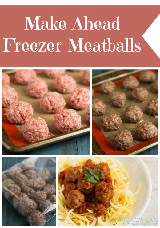 Make Ahead Freezer Meatballs