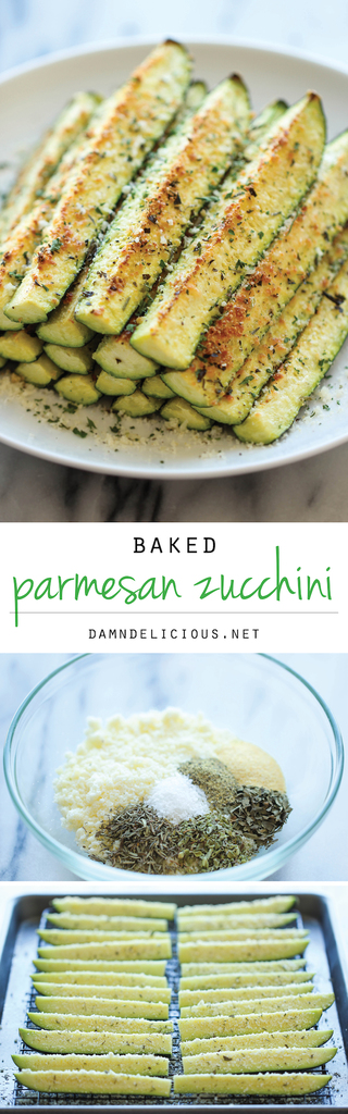 Baked Parmesan Zucchini from Damn Delicious