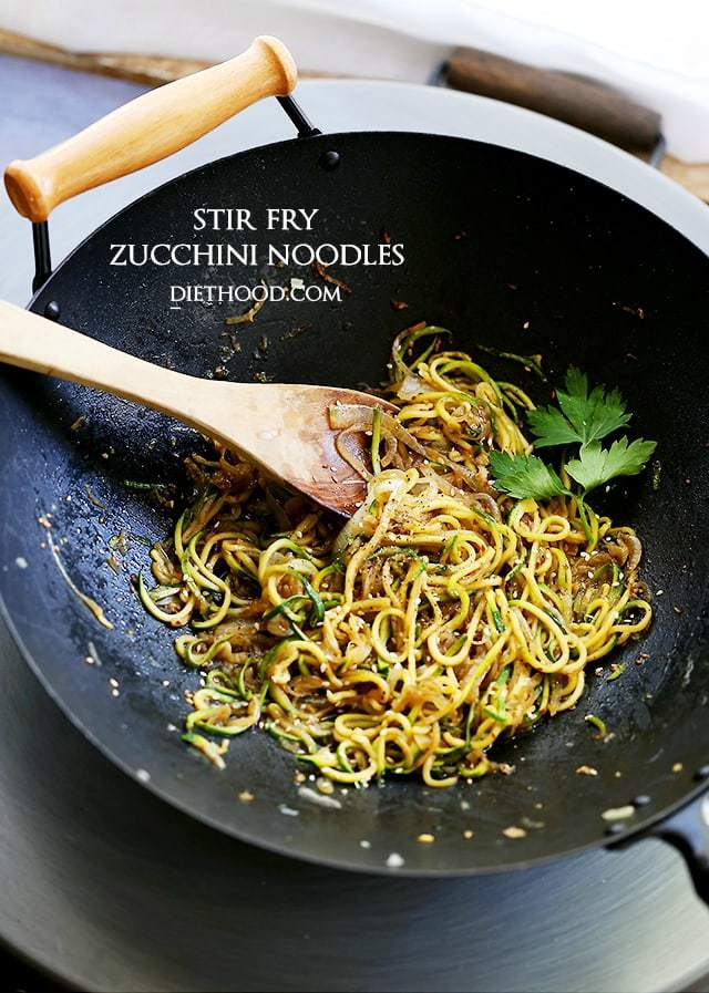 Stir Fry Zucchini Noodles from Diethood