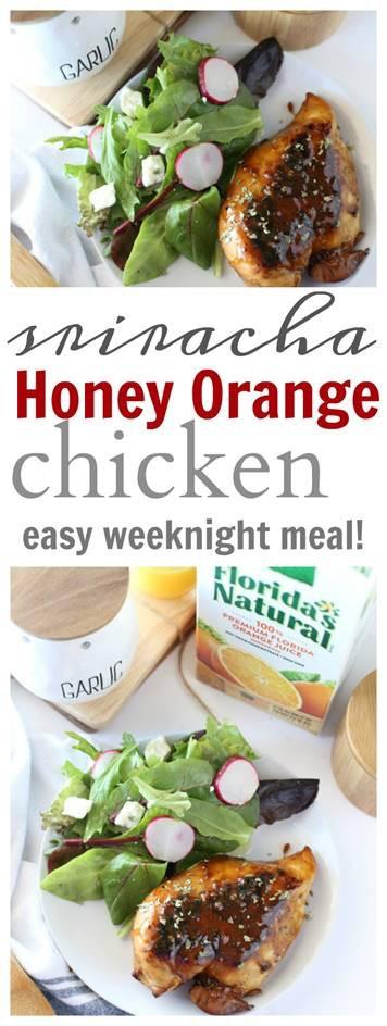 Sriracha Honey Orange Chicken Recipe