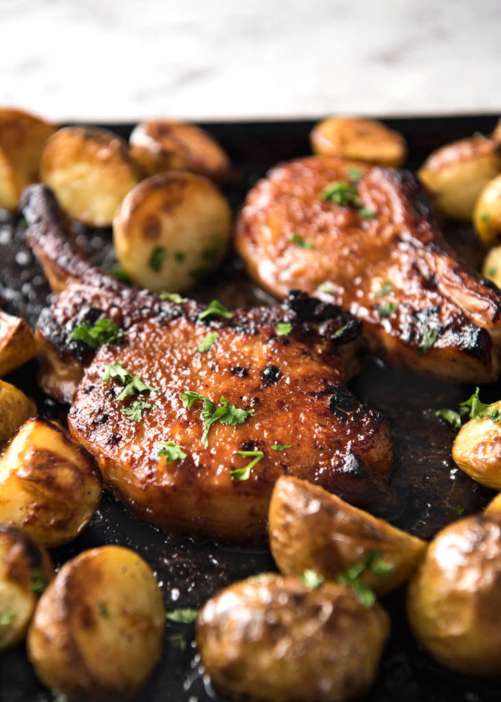 Oven Baked Pork Chops with Potatoes from Recipe Tin Eats