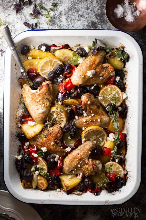 Greek Style Baked Chicken from Savory Nothings