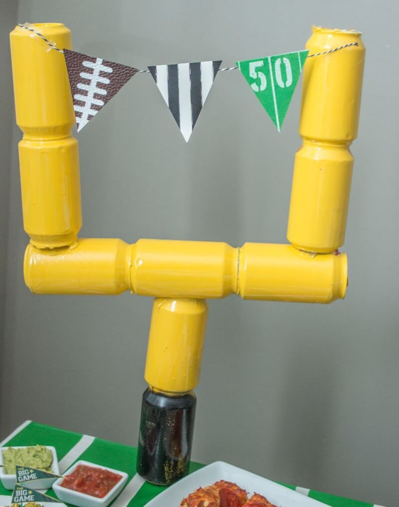 Super Bowl Party DIY Goal Post