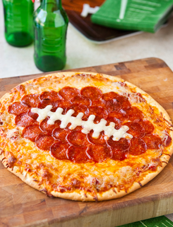 Football Pepperoni Pizza