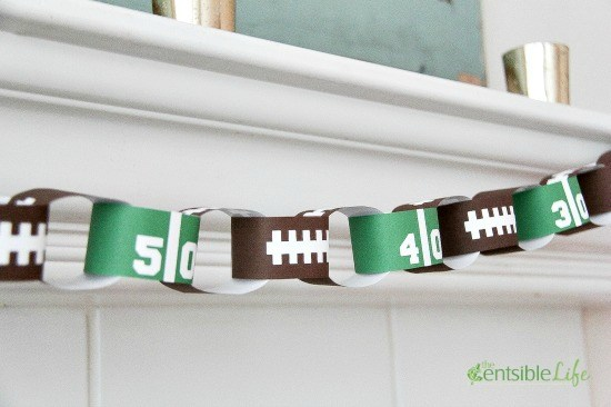 Football Printable Paper Chain