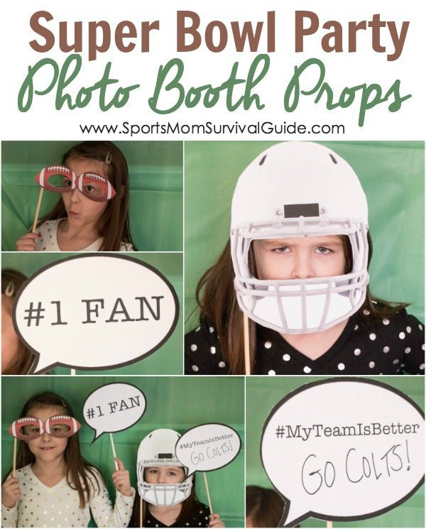 Super Bowl Party Photo Booth Props