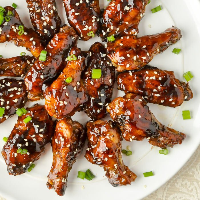 Glazed Teriyaki Chicken Wings from Rock Recipes