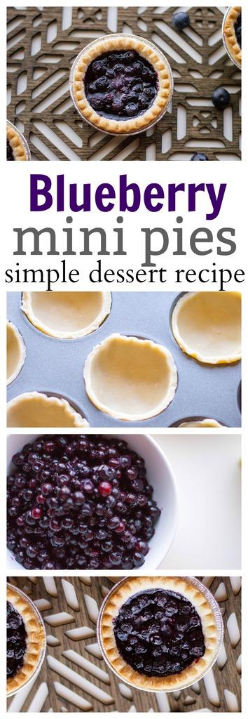 Easy Blueberry Pie Recipe (Mini)