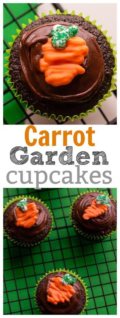 Carrot Garden Cupcakes for Spring