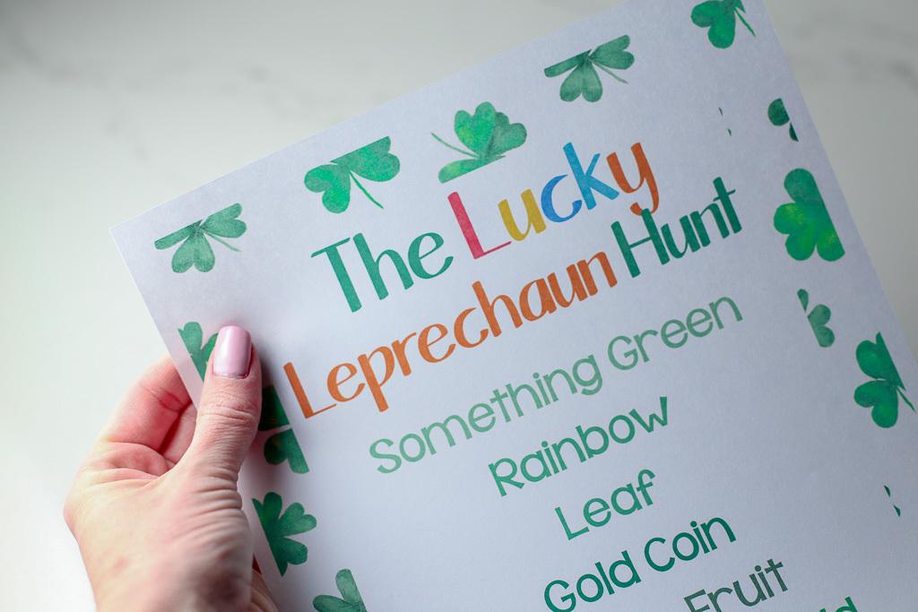 St. Patrick's Day Leprechaun Scavenger Hunt (FREE PRINTABLE)
