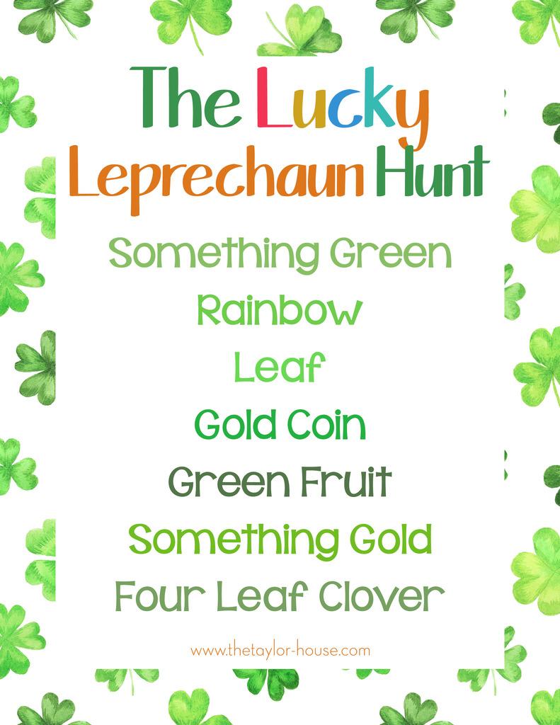 photo about Leprechaun Printable identified as St. Patricks Working day Leprechaun Scavenger Hunt (Totally free PRINTABLE