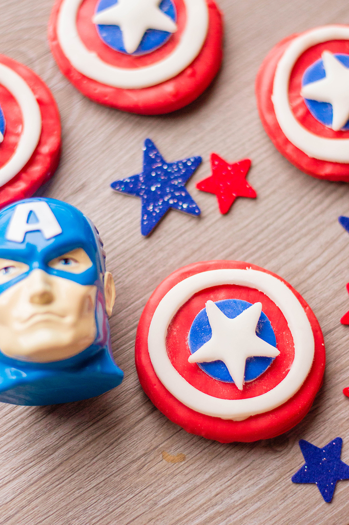 Fun Captain America Cookies (Easy to Make)