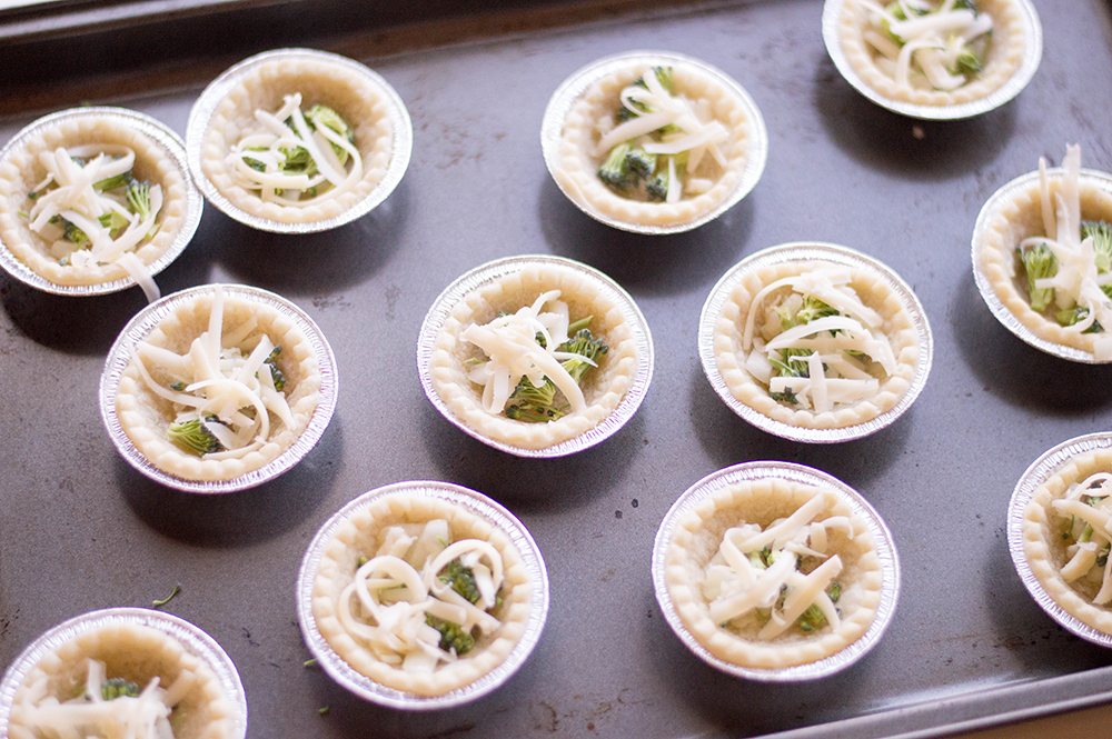 Mini pie crust used in breakfast quiche