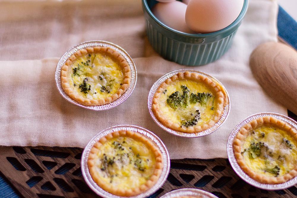 Broccoli and Cheese Mini Breakfast Quiche
