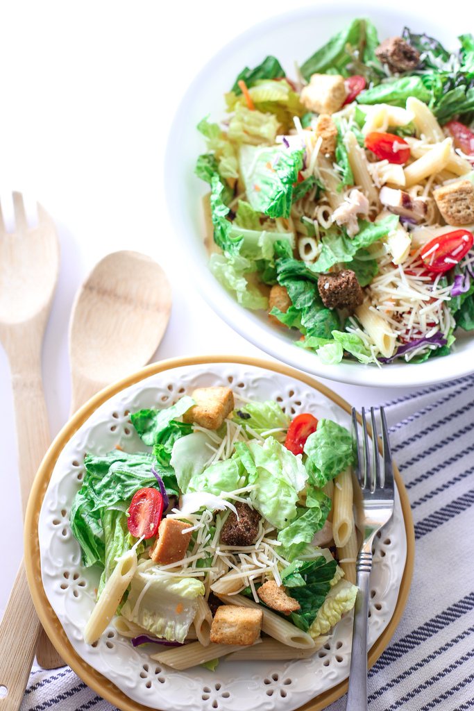 Garlic Parmesan Chicken Pasta Salad