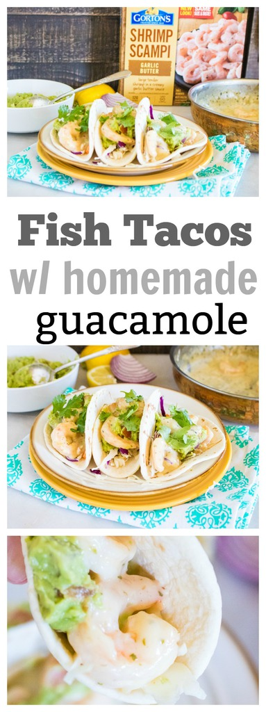 Fish Tacos with Homemade Guacamole