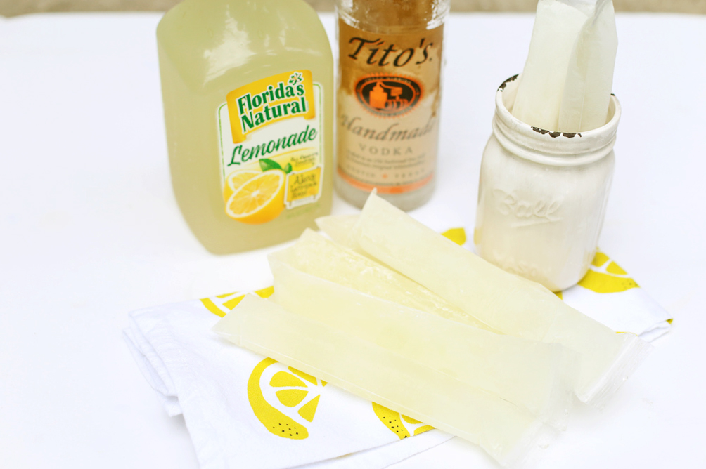 Vodka Lemonade Ice Pops