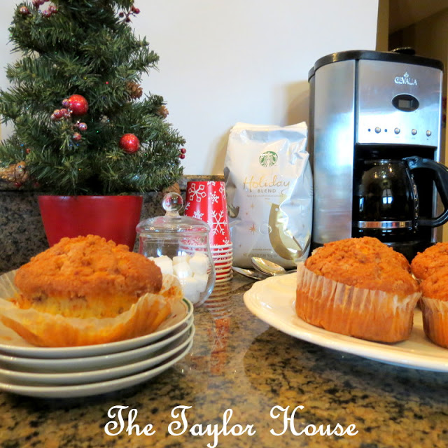 Starbucks Holiday Blend, Sam's Club Artisan muffins, coffee, Holiday blend, delicious pairings
