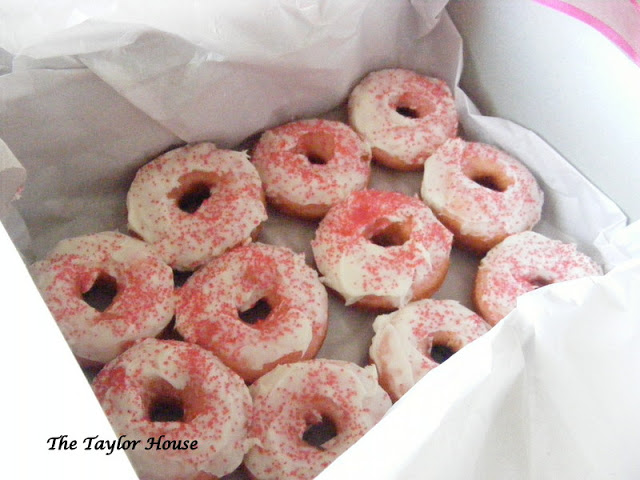 Strawberry Donuts w/ Cream Cheese Frosting