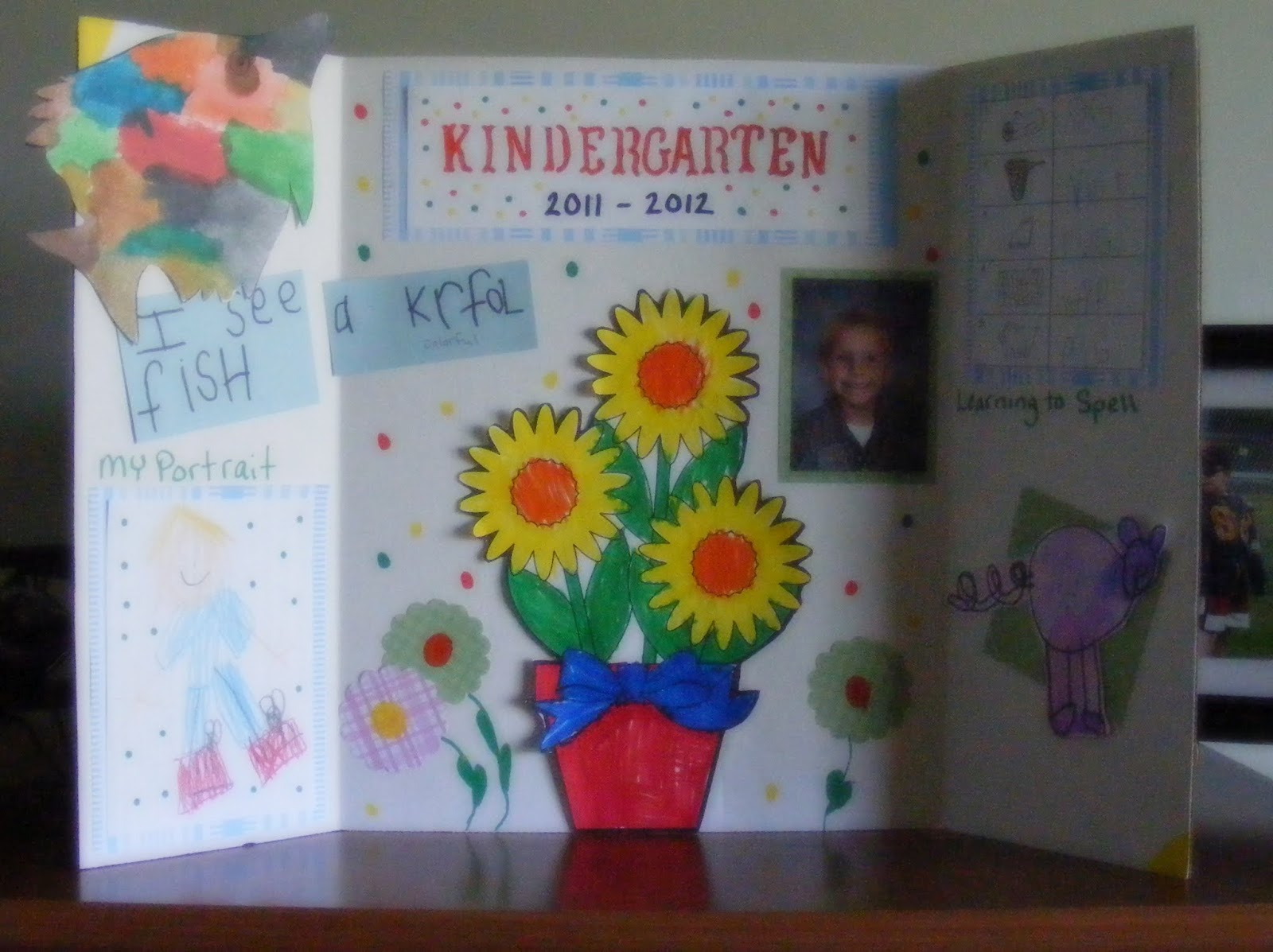 Kindergarten Display Board Gluenglitter The Taylor House
