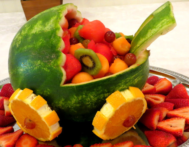 Baby buggy fruit, baby shower