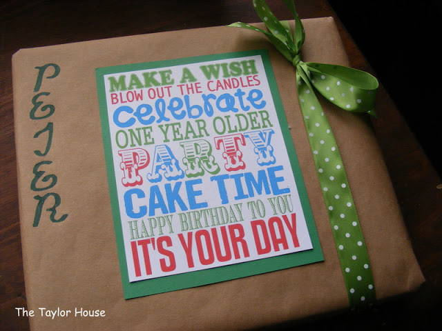 frugal gift wrap