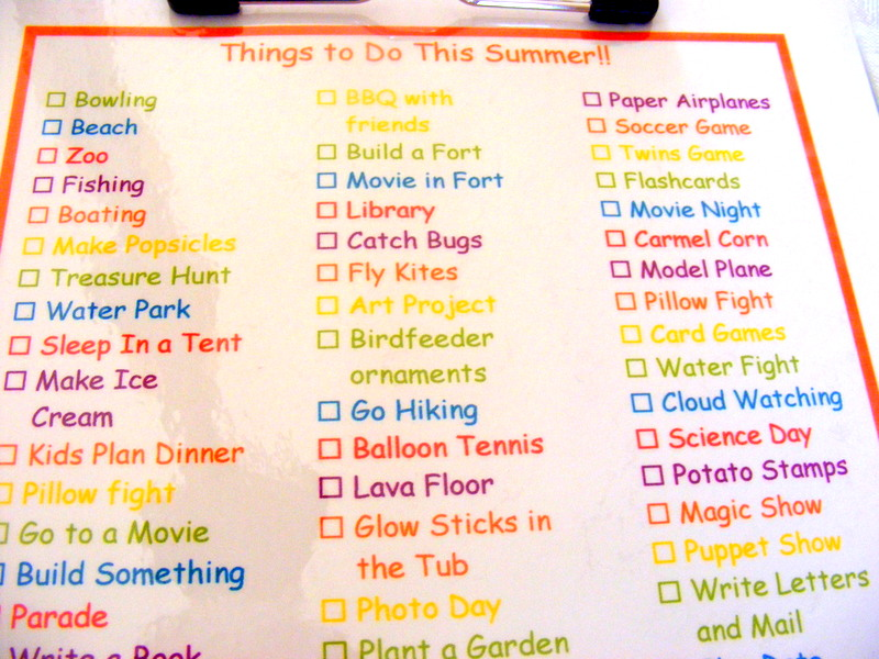 Summer Bucket List And A Giveaway Winner The Taylor House