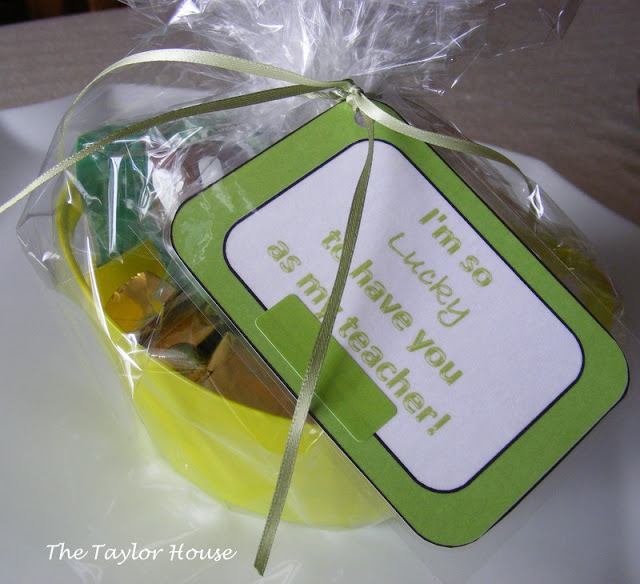 St. Patricks Day Teacher Gift Idea