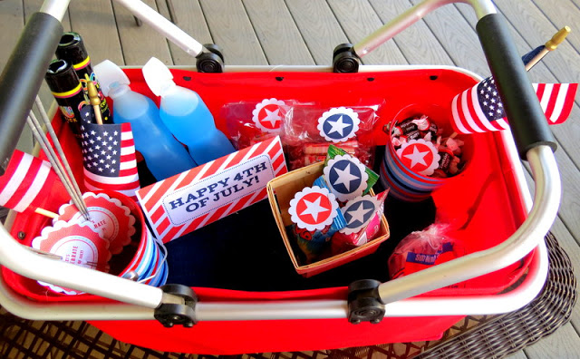 4th of July Fireworks basket