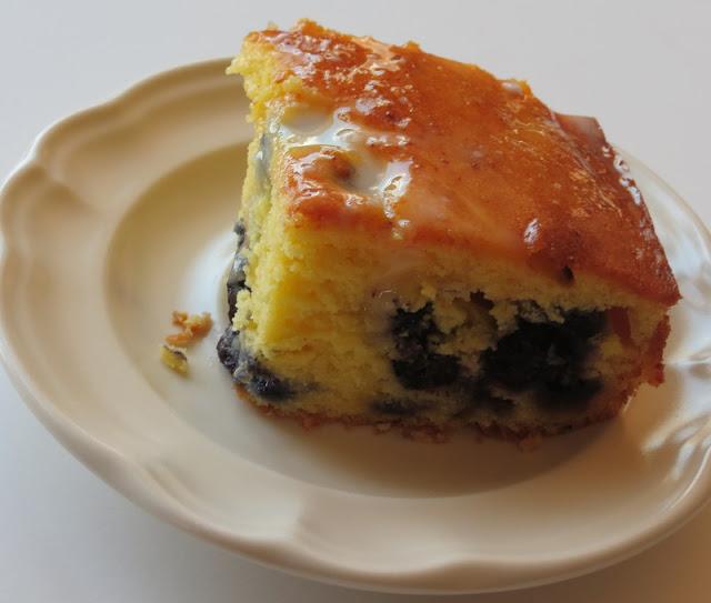 French Vanilla Lemon Blueberry Pound Cake