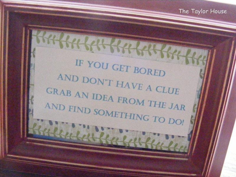 I M Bored Jar: Mom, I'm Bored! Jar Of Ideas