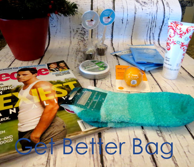 Get Better Gift, bag full of goodies after surgery or illness