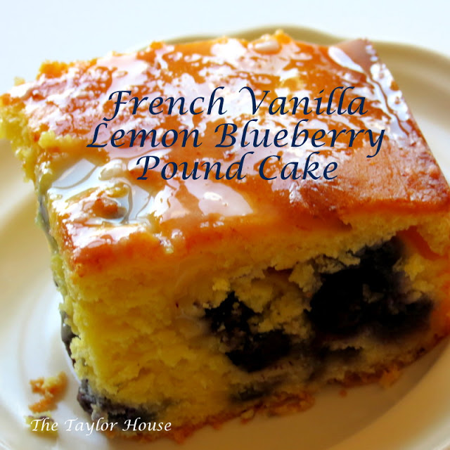 French Vanilla Lemon Blueberry Pound Cake