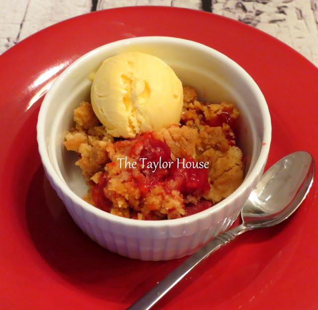 cherry dessert, Fruit dessert, fruit crisp, fruit crumble