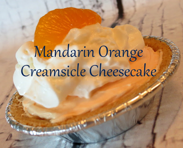 Mandarin Orange Creamsicle Cheesecake #SmartSnack