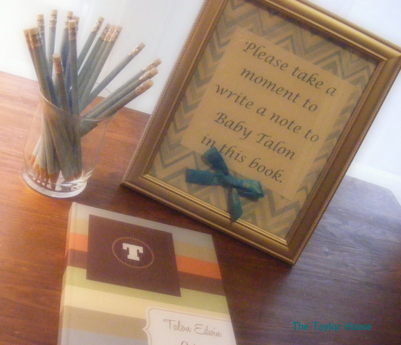 Baby Shower Guest Book Idea The Taylor House