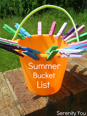 bucket Summer Bucket List from Serenity You