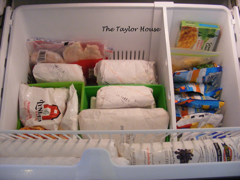 How to organize a bottom drawer freezer the taylor house